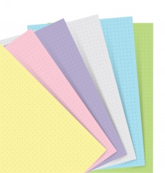 Filofax Notebooks - Feuilles de notes pointées - Assortiment Pastel