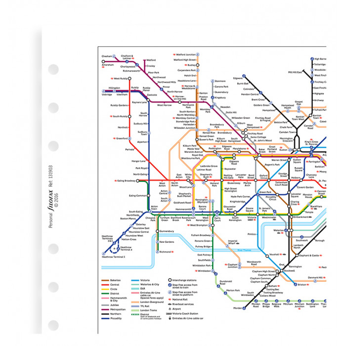 London Underground Map Refill
