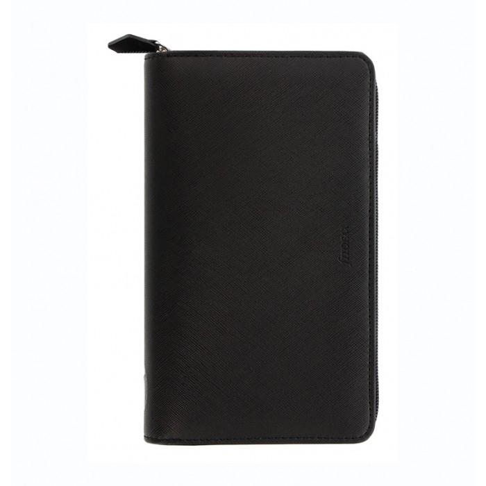 Saffiano Personal Compact Zip Organiser Black 2021